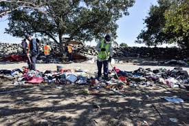 Image result for Images of trash left by homeless