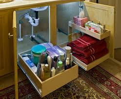 Cabinet Storage Under Sink Organizer Bathroom Cabinet with Under ...