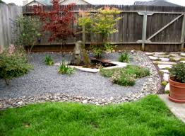 Simple Rock Landscaping Ideas Chic Garden Backyard With Stones