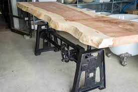 living edge furniture rental. Live-edge-table-crank-base.jpg Living Edge Furniture Rental