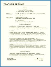Elementary Teacher Resume Sample Resume Of A Teacher Example Examples Of Experienced Elementary 51