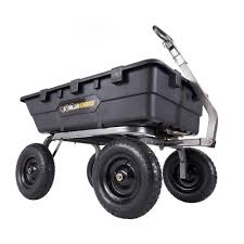 gorilla carts 1 500 lb super heavy duty poly dump cart