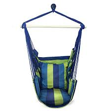 Hanging swing chair Rope Hammock Image Unavailable Amazoncom Amazoncom Sorbus Hanging Rope Hammock Chair Swing Seat For Any