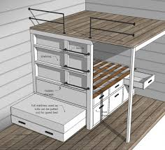 Small Picture Ana White Tiny House Loft with Bedroom Guest Bed Storage and