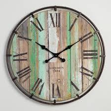 Wood and Metal Clayton Wall Clock