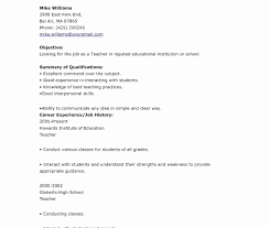 Teacher Resume Template Free Word Teacher Resume Template Free Archaicawful Download Printable 55