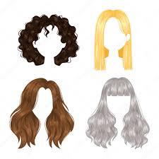 ベクトルの女性の髪型 ストックベクター Adekvat 124006146