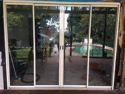 cream aluminium glass sliding door good condition building materials gumtree australia brisbane north east sandgate 1184524312