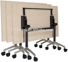 foldable office desk. new design office folding desk metal foldable table with wheels l