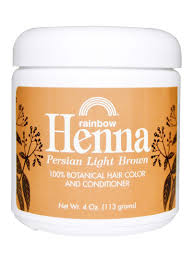 Shop Henna Rainbow Research Botanical Hair Color And Conditioner Light Brown 113 G Online In Dubai Abu Dhabi And All Uae