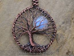 rainbow moonstone tree of life necklaces good luck necklaces