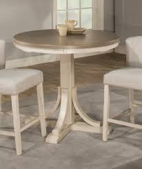 hilale clarion round counter height dining table gray white