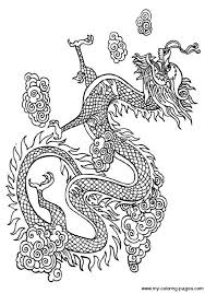 Chinese Dragon Coloring Coloring Page Dragon Dragon Coloring