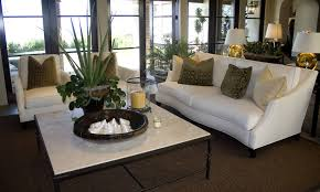 white couches in living room with white coffee table