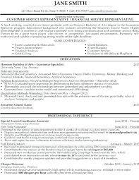 Finance Student Resume Finance Student Resumes Customer Service