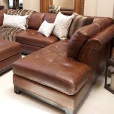 sectionals chaise pierce corsario leather sectional with right facing chaise and ottoman a a di