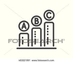 Graph Line Icon Column Chart Sign Vector Clipart