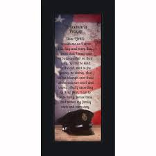 policeman s prayer picture frame gifts men police officer gifts cops 6x12 7365 walmart