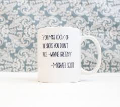 the office mugs. You Miss 100% Of The Shots Don\u0027t Take Wayne Gretzky Michael Scott - Office Tv Show Coffee Cup, Pencil Holder, Catch-all · Silver Spider Print Mugs