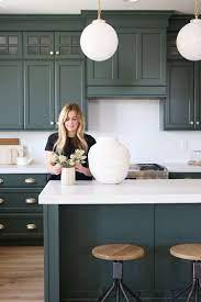 Studio Mcgee Kitchen Design Plans White Kitchen Design Green Kitchen Cabinets