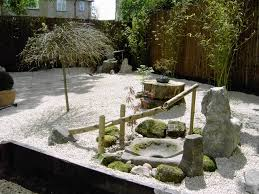 Lawn & Garden:Zen Garden In A Modern House With Japanese Garden For Small  Space