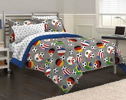 usa world soccer bedding twin full queen comforter set bed in a bag gray blue fifa flags