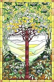 stained glass decals stained glass decal tree of life faux privacy stained glass clings and window stained glass