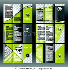 Set Of Corporate Trifold Brochure Templates Design With World Map Infographic Element And Place For Photo