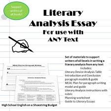 literary essay writing for any text differentiate for writers of literary essay writing for any text differentiate for writers of all levels pdf