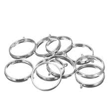 10pcs set zinc alloy silver open back bezel setting round pendant blank tray base for resin earrings necklace jewelry making