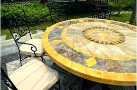 stone top patio table round metal marble outdoor mosaic costco stone top patio table