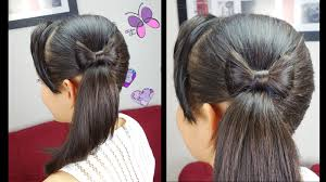 Bows In Hair Style side ponytail and hair bow quick and easy hairstyles 6599 by wearticles.com
