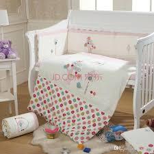 nursery bedding sets cotton pink baby bedding set cartoon crib bedding set for girls detachable cot