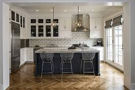 chicago kitchen design. Spacious Classically Kitchen Design Project Photo With Three Stylish Bar Chairs In Chicago