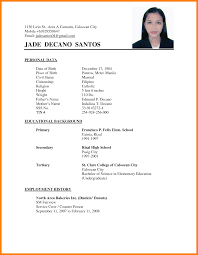 Magnificent Example Of Resume Format Philippines With Basic Format