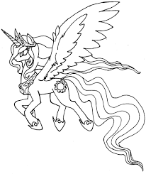 My Little Pony Princess Celestia Coloring Pages Getcoloringpagescom