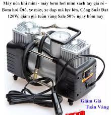 Máy nén khí mini - máy bơm hơi mini xách tay giá rẻ - Bơm hơi Ôtô xe máy xe  đạp mã lực lớn Công Suất Đạt 120W giảm giá tuần vàng