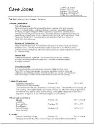 Qc Resume Samples Sample Resume For Quality Control Yuriewalter Me
