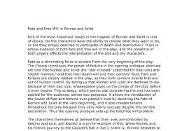 fate and will in romeo and juliet gcse english marked by  document image preview