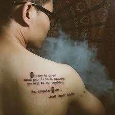 вьетнамский фанат Dota 2 сделал тату с цитатой Dendi блоги блоги