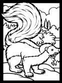 Small Picture Skunk Coloring Pages