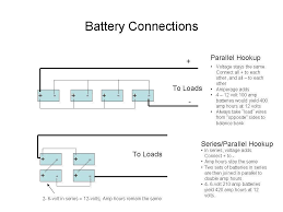 battery bank wiring diagrams 6 volt 12 volt series and 12 volt batteries in parallel diagram at 12 Volt Battery Bank Wiring Diagram