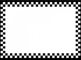 白黒のチェック柄のフレーム飾り枠イラスト 無料イラスト かわいい