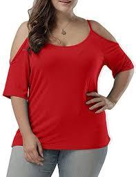 Allegrace Size Chart Allegrace Women Plus Size Fashion Spaghetti Strap Tee Top