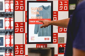 Interactive Vending Machines Mesmerizing Uniqlo Adds Interactive Vending Machines SixteenNine