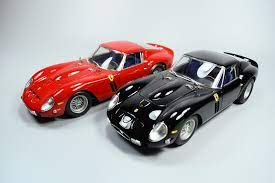Announced by enzo ferrari in september 1983, and unveiled at the geneva motor show in march 1984, the gto (also known unofficially with the 288 prefix) sparked off a wave of enthusiasm. Review Kyosho Hi End Ferrari 250 Gto Red Black Diecastsociety Com