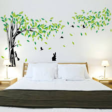 wall decoration sticker large green tree wall sticker vinyl living room wall stickers home wall decor