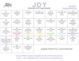 Calendar Yoga With Adriene