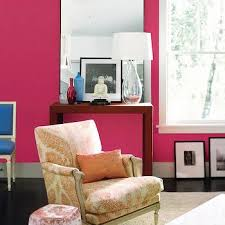 pink wall paintHot Pink Wall Paint Design Ideas