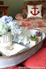 Decorating An Ottoman With Tray Summer Home Tour Decorating Ideas Ottomans Trays and Display 79